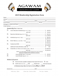 2019 Membership Registration Form